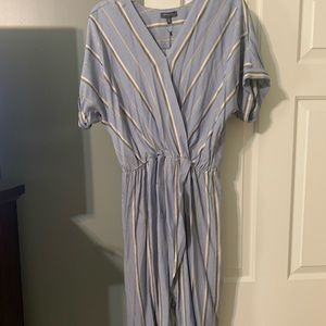 NWT Madison faux wrap dress light blue